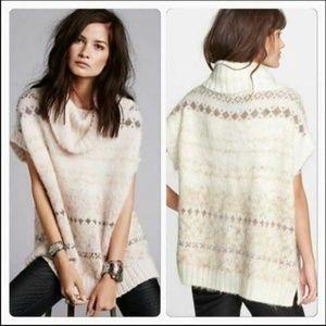 Free People Wool Alpaca Blend Snow Bunny Sweater